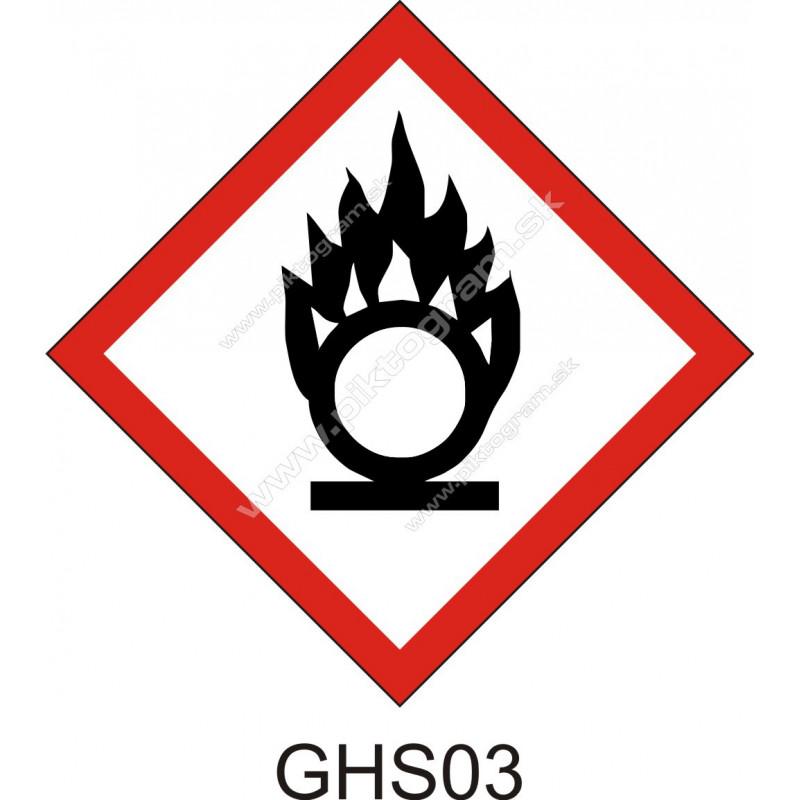 GHS03 - Oxidačné látky a zmesi