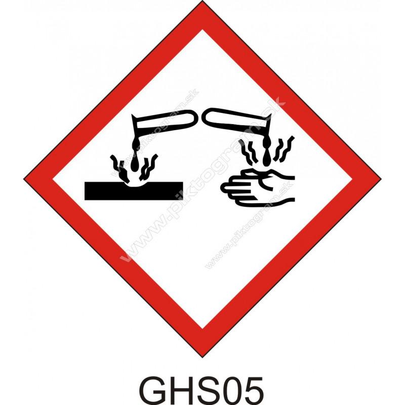 GHS05 - Korozívne a žieravé látky a zmesi