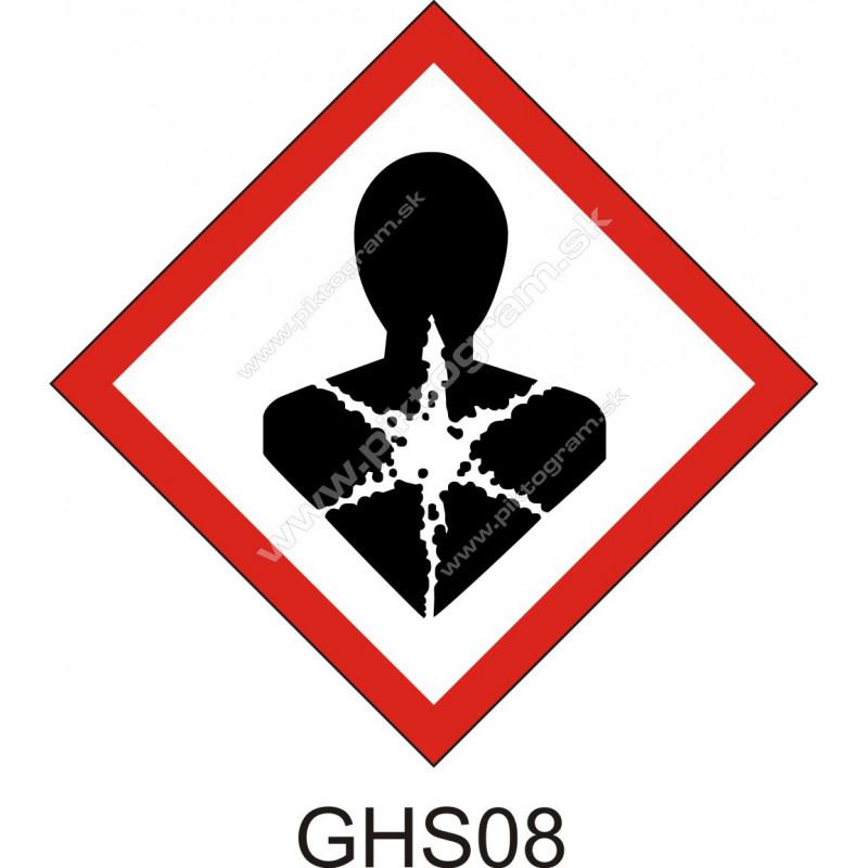 GHS08 - Látky a zmesi nebezpečné pre zdravie