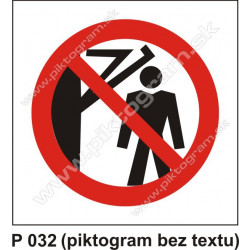 Zákaz vstupu za pohyblivé rameno