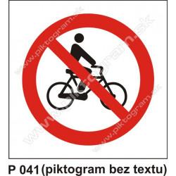 Zákaz vjazdu s bicyklom