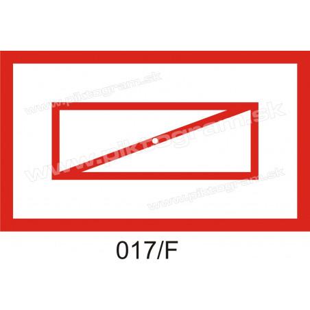 Požiarna klapka - piktogram