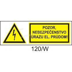 Pozor, nebezpečenstvo úrazu elektrickým prúdom!