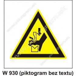 Nebezpečenstvo poranenia ruky pracovným nástrojom