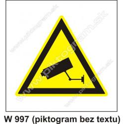 Upozornenie - kamerový systém
