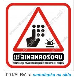 Objekt je chránený bezpečnostným systémom (na sklo)