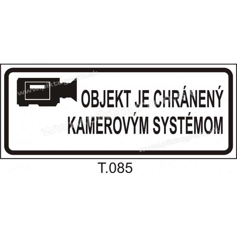 Objekt je chránený kamerovým systémom