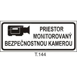 Priestor monitorovaný bezpečnostnou kamerou