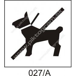 Zákaz vstupu so psom