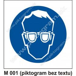 Príkaz na ochranu zraku (piktogram bez textu)
