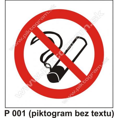 P 001 Zákaz fajčenia (piktogram bez textu)