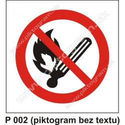 Zákaz fajčenia a používania otvoreného ohňa (piktogram bez textu)