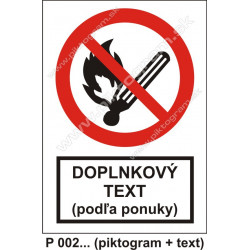 Zákaz fajčenia a používania otvoreného ohňa