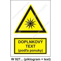 Pozor, optické žiarenie