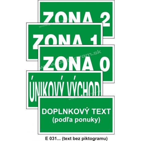 Textové značky (iný bezpečný stav alebo prostriedok na zaistenie bezpečnosti) - E 031