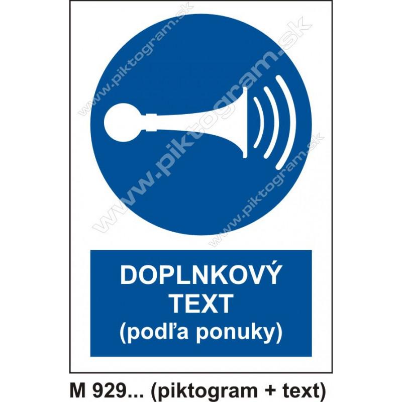 Príkaz na používanie zvukového signálu