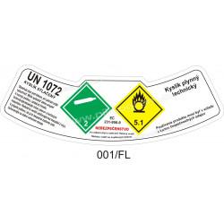 Kyslík plynný technický - kyslík stlačený