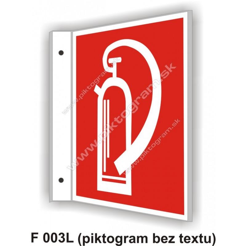 """Hasici prístroj - obojstranné priestorové označenie v tvare """"L"""""""