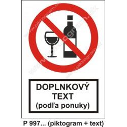 Zákaz požívania alkoholu