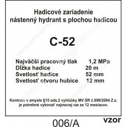 Hadicové zariadenie C-52 označenie