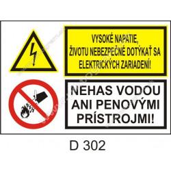 Vysoké napätie, životu nebezpečné dotýkať sa elektrických zariadení! Nehas vodou ani penovými prístrojmi!