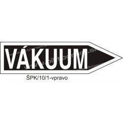 Vákuum - označenie potrubia
