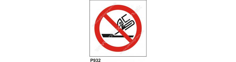 Zákaz používať na rovinné brúsenie - bezpečnostný piktogram, označenie