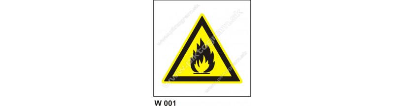 Nebezpečenstvo požiaru alebo vysokej teploty - bezpečnostné značenie