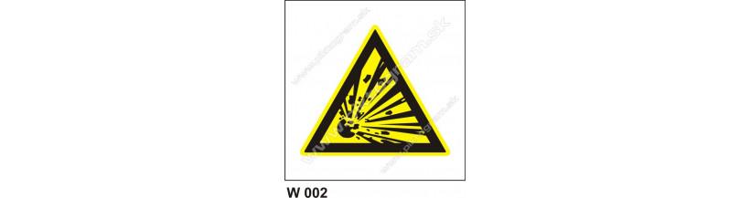 Nebezpečenstvo výbuchu - bezpečnostné značky