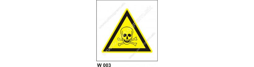 Nebezpečenstvo otravy, zadusenia - bezpečnostná značky