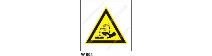 Nebezpečenstvo poleptania - bezpečnostné pvc nálepky a platové tabuľky