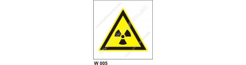 Nebezpečné rádioaktívne alebo ionizujúce žiarenie - bezpečnostné značenie