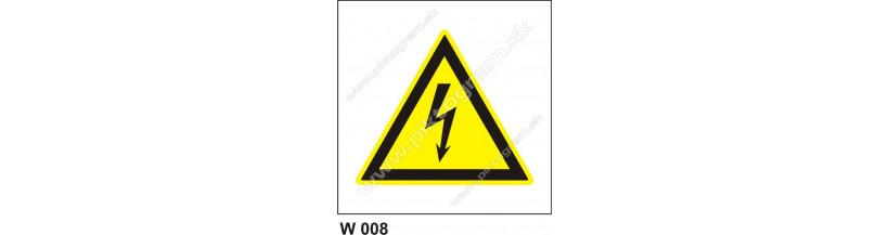 Nebezpečenstvo úrazu elektrinou - elektroznačenie