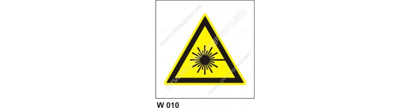 Nebezpečenstvo laserového lúča - bezpečnostné piktogramy, obrázky