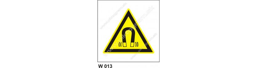 Nebezpečenstvo silného magnetického poľa - bezpečnostná značka