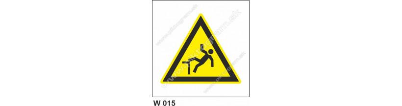 Nebezpečenstvo pádu - bezpečnostné značky, výroba a predaj