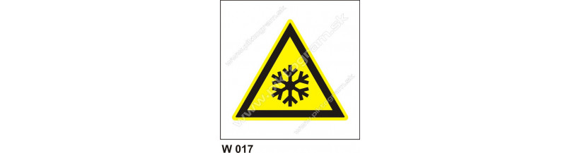 Nebezpečenstvo nízkej teploty - bezpečnostné značky