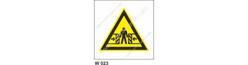 Nebezpečenstvo pomliaždenia - bezpečnostné značenie