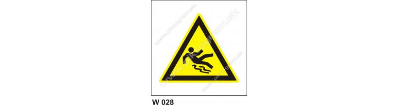 Nebezpečenstvo pošmyknutia - bezpečnostné samolepky, tabuľky
