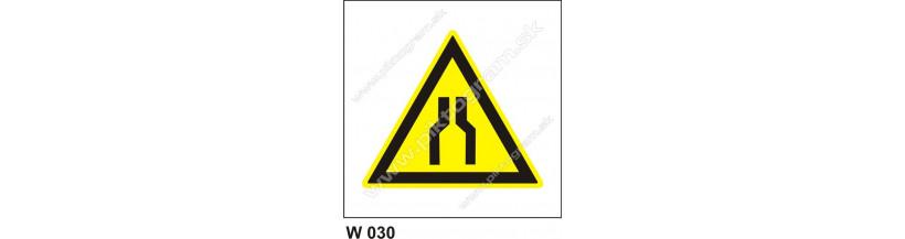 Pozor, zúžený priestor - bezpečnostné značky