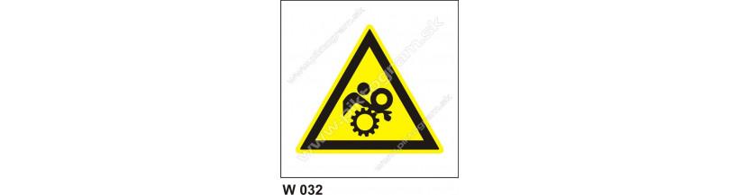 Nebezpečenstvo vtiahnutia - bezpečnostné značky