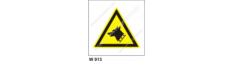 Pozor, strážny pes - tabuľka, PVC samolepka