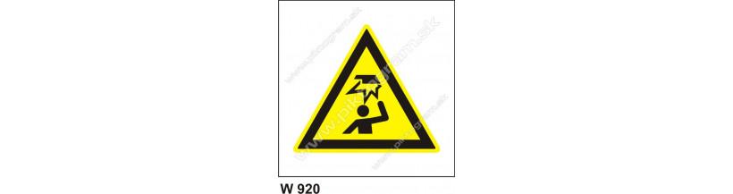 Pozor, prekážka nad hlavou - bezpečnostné značenie