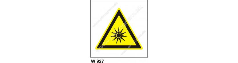 Pozor, optické žiarenie - piktogrami