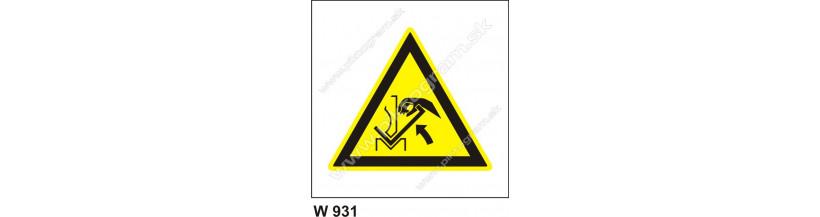 Nebezpečenstvo poranenia ruky pracovným predmetom