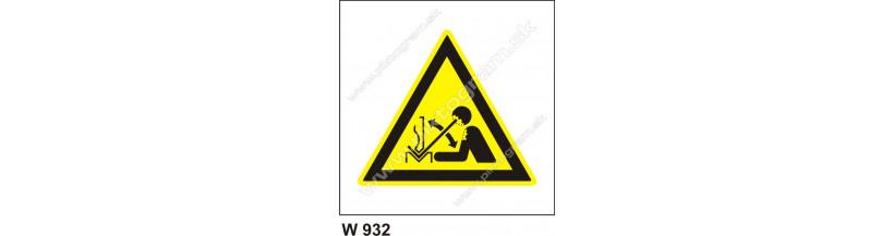 Nebezpečenstvo poranenia pracovným predmetom - bezpečnostné značenie BOZP