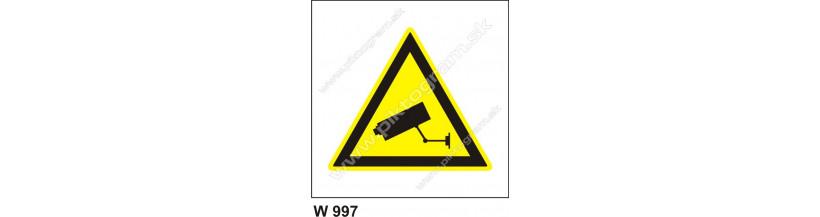 Upozornenie - kamerový systém - bezpečnostná značka