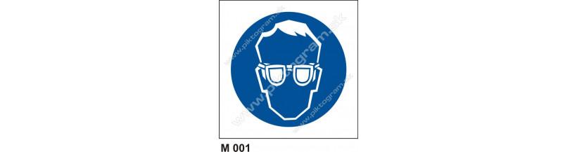 Príkaz na ochranu zraku - bezpečnostné tabuľky symboly piktogramy