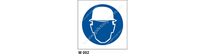 Príkaz na ochranu hlavy - piktogram, bezpečnostná značka