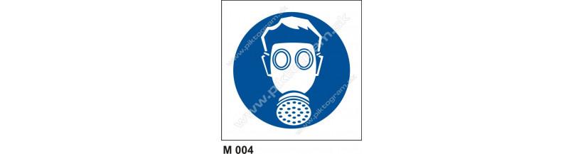 Príkaz na ochranu dýchacích orgánov - bezpečnostné značenie